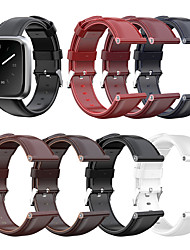 cheap -Replacement Genuine Leather Watch Band Strap for Fitbit Versa Lite/Versa