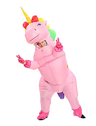 cheap -Unicorn Cosplay Costume Inflatable Costume Adults' Men's Halloween Halloween Festival / Holiday 100% Polyester White / Purple / Blushing Pink Men's Women's Couple's Carnival Costumes / Gloves