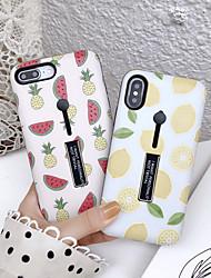 Недорогие -Кейс для Назначение Apple iPhone XS / iPhone XR / iPhone XS Max Защита от пыли / со стендом / С узором Кейс на заднюю панель Продукты питания / Мультипликация ПК