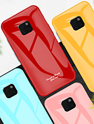 cheap -Shockproof Tempered Glass Phone Case For Huawei Mate 20 Pro Mate 20 Protective Shell Case for Huawei Mate 10 Pro Mate 10 Silicone TPU Bumper Edge
