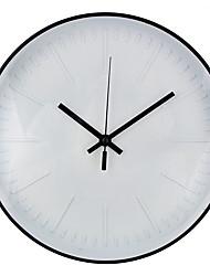 Недорогие -Современный современный / Мода пластик Круглый Классика В помещении Батарея Украшение Настенные часы Цифровой Пластик Да