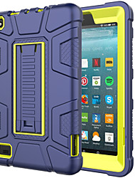 cheap -Case For Amazon Amazon Fire7(2019) Shockproof Back Cover Solid Colored PC / Silica Gel