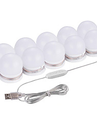 cheap -1set LED Vanity Mirror Lights Kit with 10 Dimmable Light Bulbs For Makeup Dressing Table USB Base DC5V makeup mirror Led Bulb in Dressing Room
