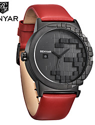 cheap -Men's Digital Watch Digital Modern Style Genuine Leather Black / Blue / Pool 30 m Day Date Analog Casual - Black Blue Red One Year Battery Life
