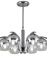 Недорогие -JSGYlights 6-Light 59 cm Новый дизайн Люстры и лампы Металл Стекло кластер / Оригинальные / перевернутый Электропокрытие Modern / Северный стиль 110-120Вольт / 220-240Вольт