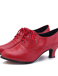 cheap -Women's Dance Shoes EVA(ethylene-vinyl acetate copolymer) Jazz Shoes Heel Cuban Heel Customizable Silver / Red / Pink / Performance