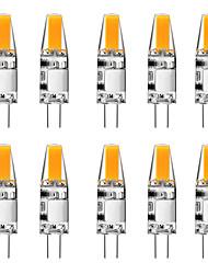 cheap -10pcs 3 W LED Bi-pin Lights 300 lm G4 T 1 LED Beads COB Warm White White 12 V