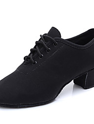 cheap -Women's Dance Shoes Canvas Jazz Shoes Heel Thick Heel Black