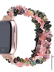 cheap -1 PCS Watch Band for Fitbit Jewelry Design Elastic Beaded Wrist Strap for Fitbit Versa