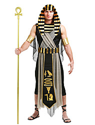 cheap -Egyptian Costume Cosplay Costume Masquerade Adults' Men's Cosplay Halloween Halloween Festival / Holiday Cotton Polyster Black Men's Carnival Costumes