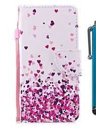 cheap -Case For Xiaomi Redmi Note 8 Pro / Redmi Note 8 / Redmi Note 7 Pro Wallet / Card Holder / with Stand Pink Heart PU Leather / TPU for Redmi Note 7 / Redmi 8 / Redmi 8A / Mi CC9 / Mi CC9e