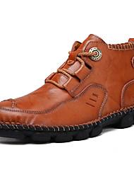 Недорогие -Муж. Армейские ботинки Кожа Осень / Весна лето На каждый день Ботинки Сохраняет тепло Черный / Коричневый