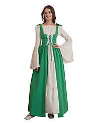 cheap -Princess Goddess Vintage Medieval Gypsy Outfits Party Costume Women's Costume Black / Emerald Green / Purple Vintage Cosplay Thanksgiving Long Sleeve Floor Length Two Piece / Dress / Dress
