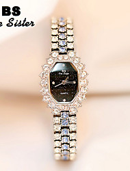 cheap -Women's Wrist Watch Japanese Quartz Silver / Gold / Rose Gold 30 m Luminous New Design Casual Watch Analog Luxury Rhinestone Casual Fashion - Gold Silver Rose Gold Two Years Battery Life