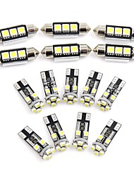 cheap -15pcs White Car Dome Map Reading LED Interior Light for Audi Q5 (8R) 2009-2012 Canbus