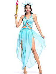 cheap -Miss Liberty Costume Women's Fairytale Theme Masquerade Performance Costumes Women's Dance Costumes Polyester Splicing