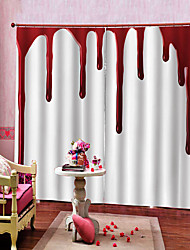 cheap -Luxury UV Digtal Printing Blood-stained Background Curtain Thickening Blackout  Curtain Fabric Bedroom /Living Room / Bar Custom Curtain Ready Made