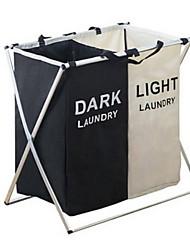 cheap -Oxford Cloth / Aluminum Rectangle Adorable Home Organization, 2pcs Storage Baskets