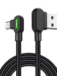 cheap -MCDODO 90 Degree Elbow Gaming Cable Micro USB Data Sync Charging Cord 1.8M