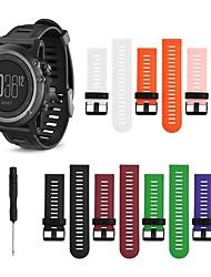 cheap -Watch Band for Fenix 5x / Fenix 3 HR / Fenix 3 Garmin Classic Buckle / DIY Tools Silicone Wrist Strap