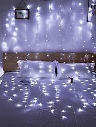 cheap -Window Curtain String Light,3 X 3m 300 LEDs Starry Fairy Lights for Wedding Party Home Garden Bedroom Outdoor Indoor Wall Decorations Warm White Blue Multi Color White Linkable 220-240 V 1pc