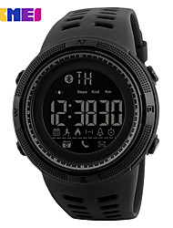 cheap -SKMEI Men's Digital Watch Digital Silicone 30 m Water Resistant / Waterproof New Design LCD Digital Outdoor Fashion - Black Gold Coffee