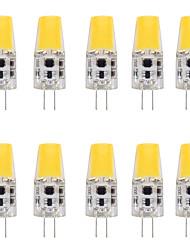 cheap -10pcs 4 W LED Bi-pin Lights 400 lm G4 T 1 LED Beads COB New Design Warm White White 12 V