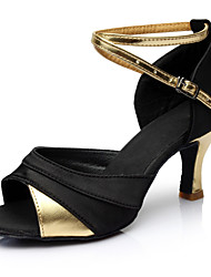 cheap -Women's Dance Shoes Patent Leather Latin Shoes Heel Slim High Heel Customizable Black / Gold / Performance