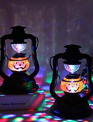 abordables -Halloween fête allumer citrouille lanterne lampe à huile vent lumière éblouissante jouets pour la maison bar école halloween décoration 1pack
