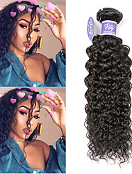 cheap -3 Bundles Indian Hair kinky Straight Unprocessed Human Hair 100% Remy Hair Weave Bundles Natural Color Hair Weaves / Hair Bulk Extension Bundle Hair 8-28 inch Natural Color Human Hair Weaves Party