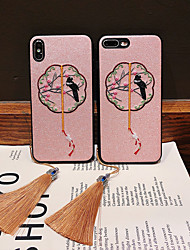 cheap -Case For Apple Applicable to iPhoneX Anti-drop Mobile Phone Case Xs Max Set of Cloth Pattern XR Female 8/7/6 Embroidery 6Plus/7Plus/8Plus Chinese Style Retro Palace Style New National Style Simple