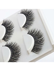 cheap -Eyelash Extensions 3 pcs Adorable Cool Ultra Light (UL) Casual Cute Convenient Microfiber Wedding Party Housewarming Natural Long - Makeup Daily Makeup Halloween Makeup Party Makeup Sweet Fashion