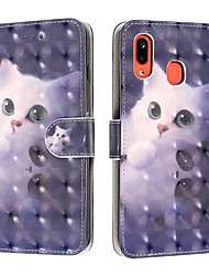 cheap -Case For Samsung Galaxy A6 (2018) / A6+ (2018) / Galaxy A7(2018) Wallet / Card Holder / Shockproof Full Body Cases Cat PU Leather