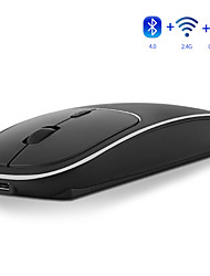 cheap -MODAO E69 Rechargeable 2.4GHz and Bluetooth Wireless Metal Silent Click Dual Mode Optical Mouse