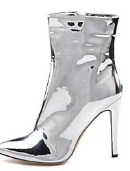 cheap -Women's Boots Stiletto Heel Pointed Toe Sequin Faux Leather Booties / Ankle Boots British / Minimalism Spring &  Fall / Winter Silver / Party & Evening