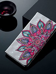 cheap -Case For Huawei P30 / P30 Pro / P30 Lite Wallet / Card Holder / with Stand Full Body Cases Half Flower PU Leather for P Smart / P smart 2019 / Honor 10 Lite / P Smart Z / P20 Lite 2019