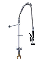 cheap -High End Luxury 2 Handles Single Hole Deck Mount Hotel Commercial Dishwasher Pre Rinse Kitchen Faucet Tap