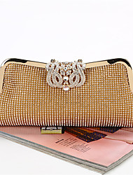 cheap -Women's Bags Polyester Evening Bag Crystals Chain for Event / Party Black / Gold / Silver / Wedding Bags