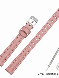 cheap -Genuine Leather / Leather / Calf Hair Watch Band Pink Other / 17cm / 6.69 Inches / 19cm / 7.48 Inches 1cm / 0.39 Inches