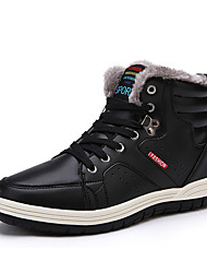 cheap -Men's Snow Boots Microfiber Fall & Winter Casual Boots Hiking Shoes Warm Black / Brown / Blue / Outdoor