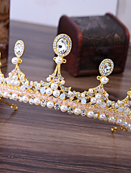 cheap -Alloy Tiaras with Faux Pearl 1 Piece Wedding / Special Occasion Headpiece