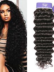 cheap -3 Bundles Malaysian Hair Deep Wave Remy Human Hair 100% Remy Hair Weave Bundles Natural Color Hair Weaves / Hair Bulk Extension Bundle Hair 8-28 inch Natural Color Human Hair Weaves Women Extention