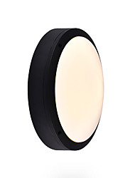 cheap -Mini Aluminum Wall Sconce Outdoor Round Wall Light Waterproof Rustproof Wall Lantern Bathroom Light Fixtures Wall / Ceiling Mounted Flush Mount Black