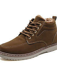 cheap -Men's Suede Shoes Suede Winter Vintage / Casual Boots Walking Shoes Warm Black / Brown / Blue / Combat Boots