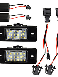 cheap -2pcs/set No Error License Plate Lights for VWPorsche Cayenne VW Touareg