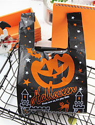 cheap -100pcs Halloween Plastic Pumpkin Bag Festive Party Decorations Favor Bags Halloween Supplies