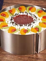 cheap -1pc Cake Molds Adjustable Round Stainless Steel Baking & Pastry Tools Everyday Use