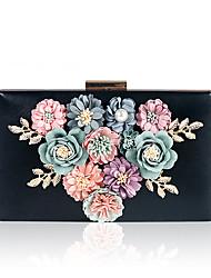 cheap -Women's Pearls / Flower PU / Alloy Evening Bag Floral Print White / Black / Blushing Pink