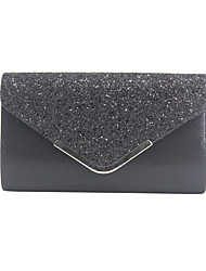 cheap -Women's Sequin / Chain PU(Polyurethane) / PU Evening Bag Color Block Black / Blushing Pink / Gold / Fall & Winter