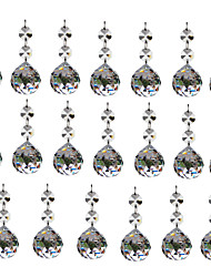 Недорогие -OYLYW 20pcs 7.5 cm Для вечеринок / Свадьба / Своими руками Стекло Аксессуары Свадебные украшения партии